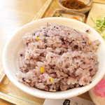 さち福やCAFE - いかにも健康に良さそうな、十五穀米!