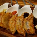 nakamegurogurirusuro-te-buru - 熟成豚のプレミアム焼餃子