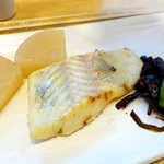 さち福やCAFE - すずきの西京焼はアッサリ風味。出汁の染みた大根も美味