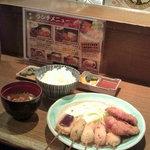 Kushiagedokoromikushi - ヒレかつミックス定食2