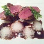 11678631 - フランス産鴨胸肉のロースト、ポルトルージュとオニオンのソース、オニオンヌーヴォーのキャラメリゼ添え