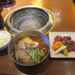 神田 炎蔵 - 冷麺とハラミ焼肉セット