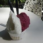 ナガイファーム - 料理写真:巨峰のソルベとはちみつミルク
