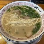 博多ラーメン片岡屋 - ストレート細麺