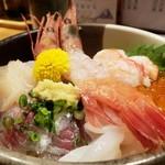 うおとら - 海鮮丼アップ2019.09.18