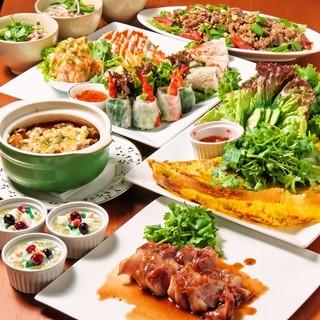 彩り鮮やか!!野菜たっぷり、海鮮メニューから肉料理まで