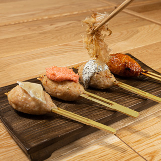 """【生つくね】挽肉のプロが提供する一口サイズの創作""""生つくね"""""""