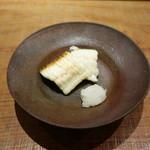 田久鮓 - 穴子白焼き、塩とおろし大根