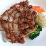 キッチンタカハシ - 国産豚バラ肉のソテー&ライス