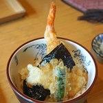 京うどん 生蕎麦 岡北 - ミニ天丼