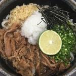 手打うどん くうかい - 肉ぶっかけ(中)¥730