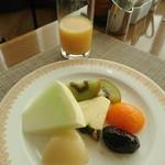 116802631 - デザート&オレンジジュース
