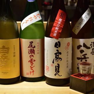 香りが豊かでバラエティに富んだ日本酒を、日替わりでご提供!
