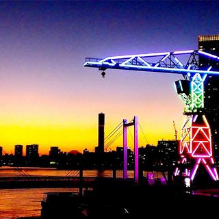オススメ!ライトアップされた東京湾の夜景が愉しめるテラス席