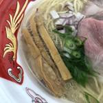宍道湖しじみ中華蕎麦 琥珀 - メンマ、アーリーレッド、青ネギ(大つけ麺博 美味しいラーメン集まりすぎ祭)