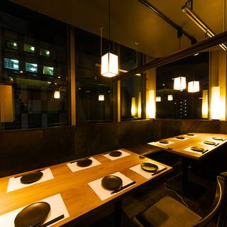 総席数《130席》落ち着きある雰囲気の和空間個室