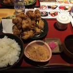 海鮮処 まる貝 - 山盛り唐揚げ定食  税込1,100円