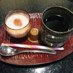 豆菜 板前割烹 入星 - 昼の彩り膳のコーヒーとデザート 2012.1撮影