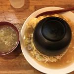116821477 - あんかけチャーシュー玉子炒飯  お供の味噌汁 730円