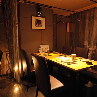 半個室完備◆食事・飲み会・接待、様々なシーンでご利用できます