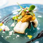 ウニ専門レストラン  unico-co - 気仙沼の一夜干し穴子に、自家製燻製うにをソースに