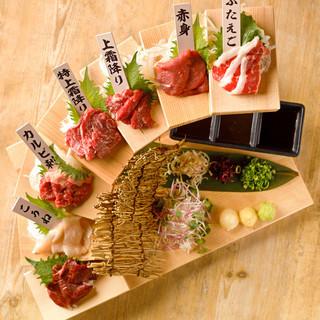 九州7県から直送される食材を使用した九州料理
