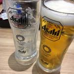 かっぱ寿司 - クーポンで生大を3杯も飲んじゃった(*^ω^*)