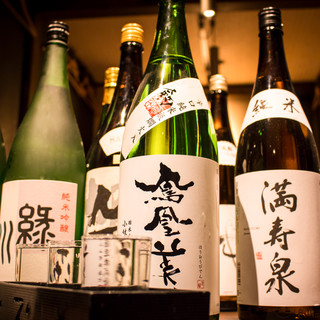 日本酒を初め豊富な種類のドリンクをご用意♪