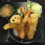 天からてん - 上天丼大盛¥830+みそ汁¥100