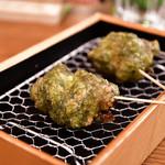 日本酒バル 富士屋 - 牡蠣と生海苔@300円