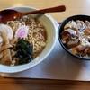 このみ - 料理写真:ラーメンモツ煮丼セット(500円)