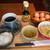 上高地あずさ珈琲 - 料理写真:たまごかけごはんと具だくさん豚汁セット