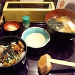 蕎麦人 弁慶 - 【2012/2】うなぎまぶしご飯セット(温蕎麦)