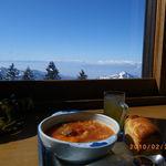 横手山頂ヒュッテ 雲の上のレストラン - ボルシチセット