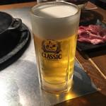 ジンギスカン羊羊亭 - 我慢できねえビール!!