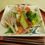 珈琲の観世 - 2012.2.19 有機野菜の根菜サラダ