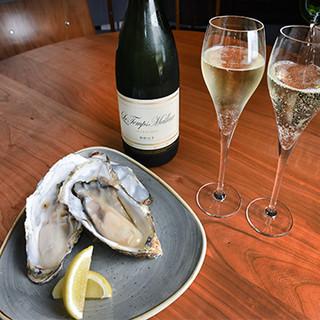 一推★新鮮牡蠣とスパークリングワイン