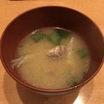 116886980 - 魚のアラの味噌汁