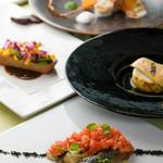 <ランチ>魚&肉料理がついた全7品の【美食ランチ】(温泉入浴付き)