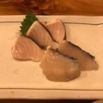 小伝馬 - 炙りさわら刺身580円税別