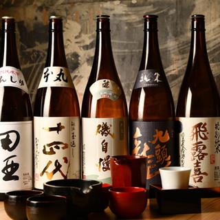 全国のプレミアム日本酒をリーズナブルな価格でご用意