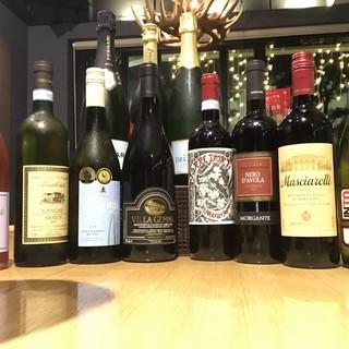 100種以上のワインがリーズナブルに。グラス500円~