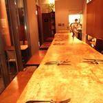 リストランテ ボルゴ・コニシ - とちの木のカウンター