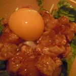 炙り居酒屋 うおやのげんさん - 鶏ユッケ ¥580
