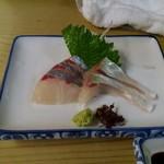 丸萬 - シマアジの刺身
