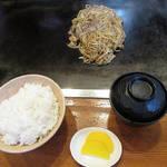 お好み焼 好平 - そば焼 定食 \880