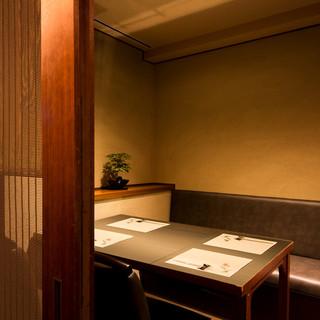 高級感も兼ね備えた鮨店、個室で至福のひとときを
