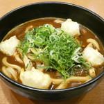 カレーうどん せんきち - 料理写真:黒カレーうどん(千吉特製麺・揚げ餅+青葱)
