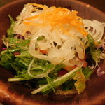 まーさんハンバーグ - お食事セット(石垣の塩サラダ)