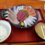 竹野鮮魚 - 刺身定食 1100円
